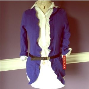 Blue Long Sleeve Cardigan ONLY